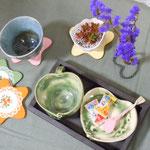 木工・陶芸作品のコラボ