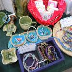 ヘンプ(麻)ミサンガ アクセサリー 手作り石鹸 ワイヤーアート陶器