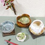 陶芸作品(一輪挿し・器)