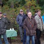Im Vordergrund MdL Markus Ganserer (Grüne) und Revierpächter Hans Webersberger