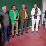 Gruppenbild: (von links) Die Schlussrunde mit Dr. Klaus Thiele (Moderator), Dr. Wolfgang Kornder (Vorsitzender ÖJV Bayern), Alfons Leitenbacher, Ulrich Wotschikowsky (Wildbiologe), DI Horst Leitner (Wildbiologe), FD Straubinger
