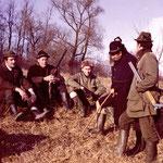 Treibjagd H.-W.1972 - H. Weinzierl, Prof. Richard Plochmann, Dr. Hans Bibelriether, Plochmann, H. Stern, Dr. G. Sperber