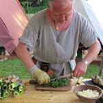 ...die dann gleich zum Abendessen in ein Lauch-Brennesselgemüse verarbeitet wurden