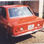 Fiat 128 Rallye, Heckansicht