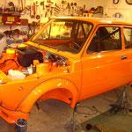 Aufbau des Motorraums