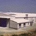 ふる里の森ひらたけ栽培施設 (大木)  S造平家(農林省補助施設) 大木町の特産物であるキノコの生産施設です。