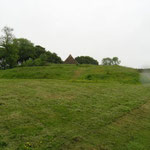 Beneath the massive embankments of Castell Henllys fields of Chevaux-de-frise have been excavated. A defencive feature formed of small boulders sticking out the ground at awkward angles they made any approach to the fort very difficult.