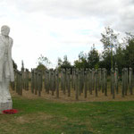 The 'Shot at Dawn Memorial' is dedicated to the memory of the 306 British and Commonwealth soldiers executed for cowardice and desertion during World War I.
