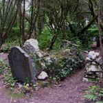 The Dogs' Cemetery - Established by the eccentric Mrs Adelaide Haig, who lived in a mansion known as Aber Iâ (which became The Hotel Portmeirion later on) from 1870 until her death in 1917. The cemetery continues to be used to this day.