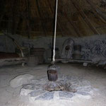 The Central hearth of the 'Old Roundhouse'.