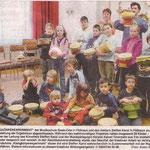 """Projekt """"Herstellung und Musizieren mit Klangkörpern"""" mit der Musikschule des Saale-Orla-Kreises"""