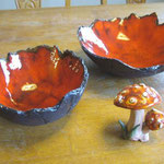 Keramikarbeiten aus dem Ergänzungsunterricht an der GS Ranis