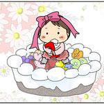 次女1歳記念の表紙