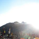 山ヨガ。より 太陽に近い場所で太陽にナマステ!