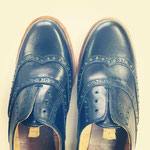 マッケイ縫いするために、一旦靴型を抜いたところ