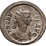 aurélianus, Rome, 281, 3,98 gr, 6e émission, 6e officine, Avers: PROBV-S PF AVG