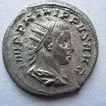 antoninien, Rome 11e ém 3e off 249, 4.18 g, Avers: IMP PHILIPPVS AVG