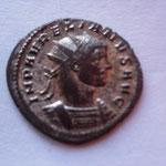 antoninien, 3.74 g, Ticinium 1ére off ?, Avers: IMP AURELIANUS AUG