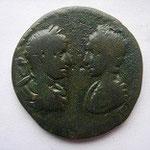 pentassaria de MARCIANOPOLIS, 6.74 g,  Avers: bustes affrontés d'Elagabale et Julia Maesa, légende absente