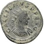 antoninien, 3.31g, 261-262, Avers: GALLIENVS PF AVG buste cuirassé à droite(achat numismatik naumann 5/01/20 n° 599)
