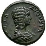As de Julia Domna, Rome, 4e officine, 198, 10,64 g, Avers: JULIA AVGVSTA