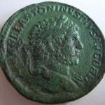 Sesterce frappé avant 213, 24.96 g, Avers: ANTONINUS PIUS AUG BRIT