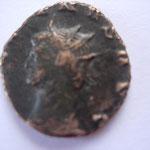 antoninien, Rome, 265, 3.23 g, 9e émission, Avers: GALLIENVS AVG tête à Gauche très rare (1 ex recensé au MIR: 586 b)