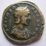 JULIA SOEMIAS (219-222) Mère d'Élagabal,  - Augusta (219-222) Sesterce Rome 20.78 g  Grand flan A/IVLIA SOAEMIAS AVG