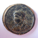nummus, Antioche, 6e officine, 3.09 g, Avers: buste à gauche anépigraphe