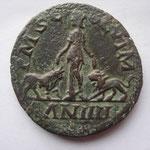 Revers: P M S C - OL VIM / AN IIII , TTB+, la Mésie dbt entre boeuf et lion :Légions VII (bœuf) et IV (lion)