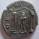 Revers: DEO MARTI, Mars dans un temple tetrastyle, TTB+ rare (R selon le Bourdel n° 372a) achat Numis corner mai 2019