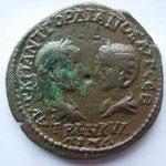 pentassaria de Marcianopolis (Mosie Inf) de Gordien et Tranquilline, A/ bustes affrontés , 11.27 g