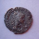 antoninien, 1.98 g, monnaie fautée, double frappe : le portrait apparait avers et revers