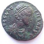 Nummus d'Aelia Flacilla ép de Théodose mère d'Arcadius et Honorius A/ AEL FLAC-CILLA AUG