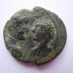 MESOPOTAMIA. Carrhae. 4.33 g, Caracalla ET Geta (209-211). A/ bustes affrontés, anépigraphe