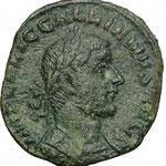 sesterce, Rome, 254-255, 13.72 g, A/ IMP C P LIC GALLIENVS AVG, buste cuirassé à droite