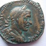 sesterce, Rome fin 251 - mi 252, 16.16 g, Avers:  IMP CAES C VIBIVS TREBONIANVS GALLVS AVG, joli portrait