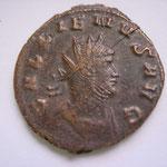 antoninien, Rome 6e officine, 267-268, 4.20 g : poids lourd, Avers: GALLIENVS AVG, buste cuirassé à dt (MIR 731 u: 22 ex)
