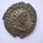 antoninien, 1ére ém automne 253-début 254, 4.19 g, Avers: IMP C P LIC  GALLIENVS AVG buste drapé cuirassé à droite