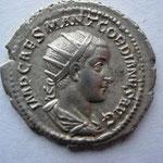 antoninien, Avers: IMP CAES MANT GORDIANUS AUG, 4.02 g, Rome, 1ére ém 5 e off 238
