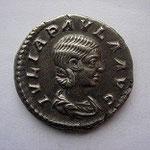 denier de Julia Paula, 1ére épouse d'Elagabale,  Rome 220,8 éme émission, 3.52 g, Avers: IULIA PAULA AUG