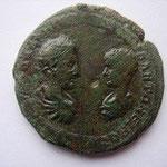 pentassaria de Marcianopolis, 11.51 g, Avers: bustes affrontés de Diaduménien à gauche et Macrin à droite