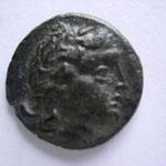Odessus, environ 200 avant JC, bronze, 4.26 , Avers: anépigraphe, tête d'Apollon