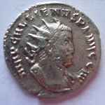 antoninien, 257, 5e officine, Avers: IMP GALLIENVS P F AVG G M