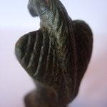 aigle en bronze, vient probablement d'un dessus de couvercle