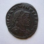 follis, Siscia 2e off, 313, Avers: IMP MAXIMINUS P F AUG buste cuirassé et drapé à droite