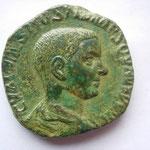 sesterce, Rome 4-5e off 251, 15.44 g, Avers: C VALENS HOSTIL MES QVINTVS N C