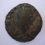 antoninien, Rome, 3.37 g, 2e officine, Avers: GALLIENVS AVG grand portrait, traces d'argenture