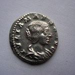 denier Julia Maesa soeur de Julia Domna grand mère d'Elagabale et Alexandre Sévère, A/ IULIA MAESA AUG portrait âgé