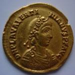 solidus, Ravenne, 430-445, 4,40 g, avers: D N PLA VALENTI-NIANVS P F AVG